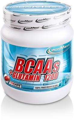 IronMaxx BCAAs + Glutamin 1200 Tricaps®, 260 Kapseln Dose
