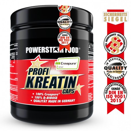 Powerstarfood PROFI KREATIN CAPS - Creatin Monohydrat - 500 Kapseln