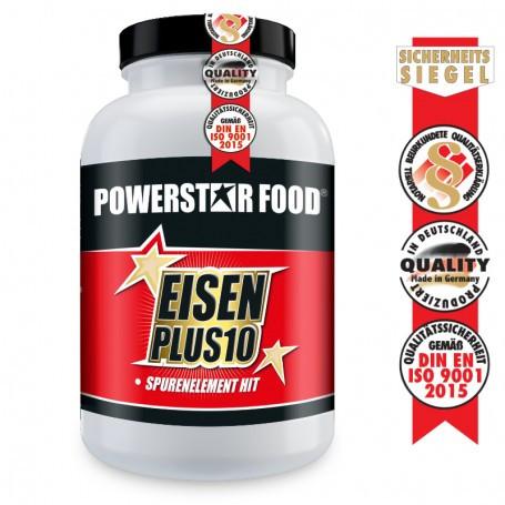 Powerstarfood EISEN PLUS 10 - Eisen, Jod & 9 Vitamine - 90 Kapseln