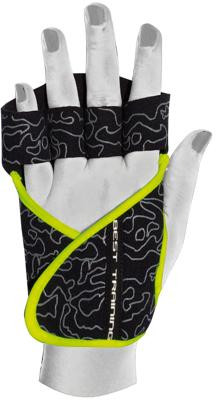 Chiba Lady Motivation Glove, Schwarz/Grau/Neongelb