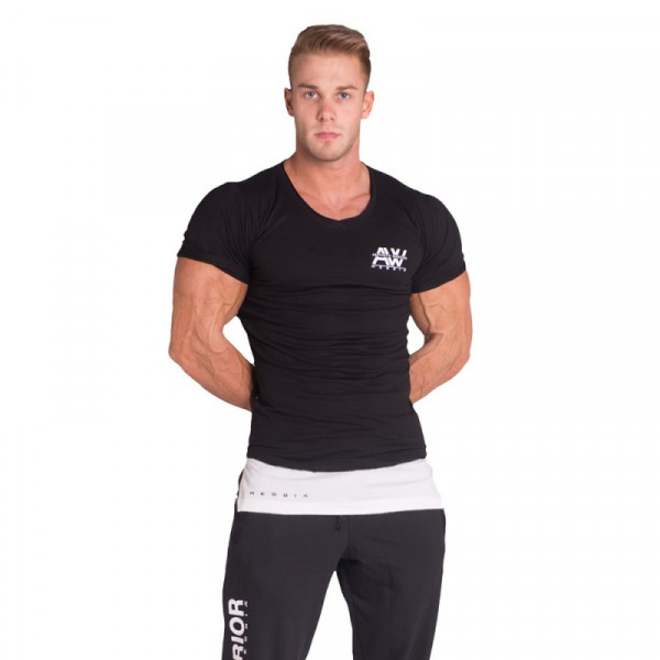 NEBBIA - T-SHIRT SINGLET AW 123 Black-Copy