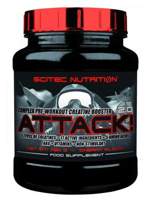 Scitec Nutrition Attack! 2.0, 720 g Dose