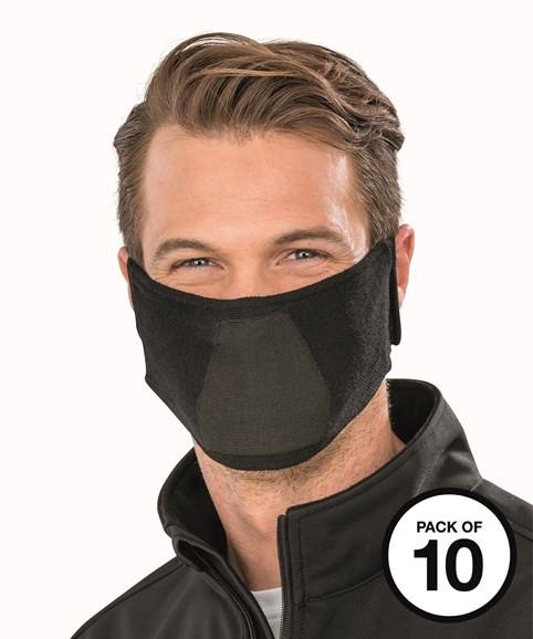 RESULT Natürliche Stoff Antibakterielle Gesichtsmaske (Nicht-PPE) 10er Pack