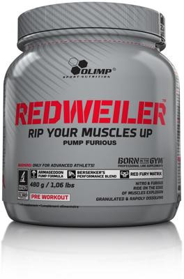Olimp Redweiler - Pre Workout Booster, 480 g Dose