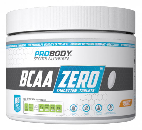 PRO BODY- BCAA ZERO 180 Tabletten