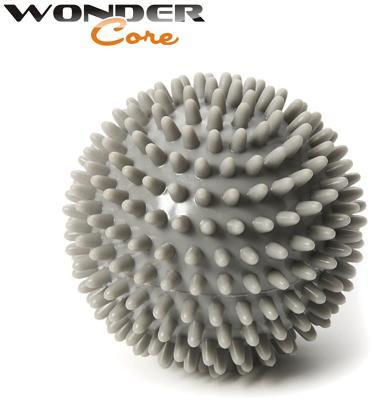 Wonder Core Spiky Massage Ball, 9 cm Umfang (Farbe: Grau)