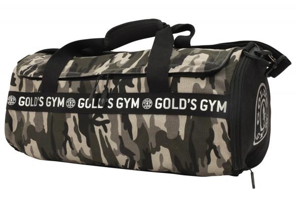 Golds Gym Camo Print Barrel Bag (2018)