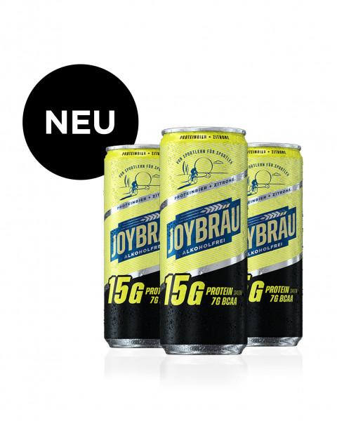 JoyBräu alkoholfrei - Proteinbier + Zitrone 12x330ml incl. 12x 0,25€ Pfand