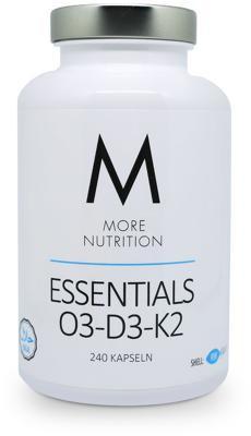 More Nutrition Essentials O3-D3-K2 (Fischgelatine), 240 Kapseln