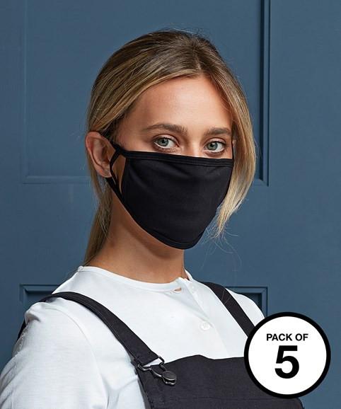 PREMIER Waschbare Gesichtsabdeckung, 5er Pack