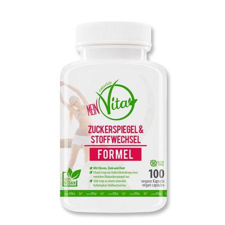 MeinVita - Zuckerspiegel & Stoffwechsel Formel, hochdosiert, 100 Kaps.