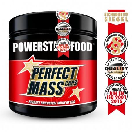 PowerstarfoodPERFECT MASS CAPS - Aminosäuren Komplex - 300 Kapseln