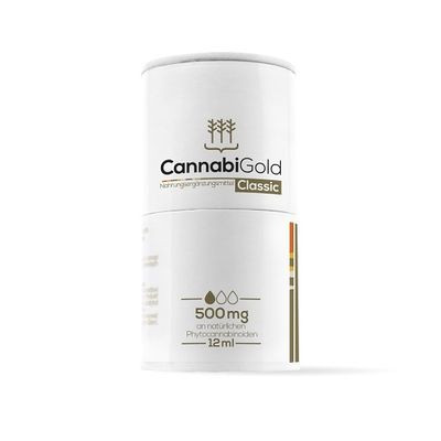 CannabiGold Classic 12ml 500mg CBD (5%)
