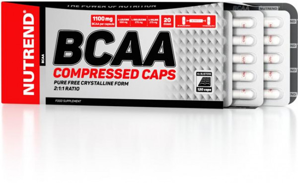 Nutrend - BCAA Compressed Caps, 120 Kaps.