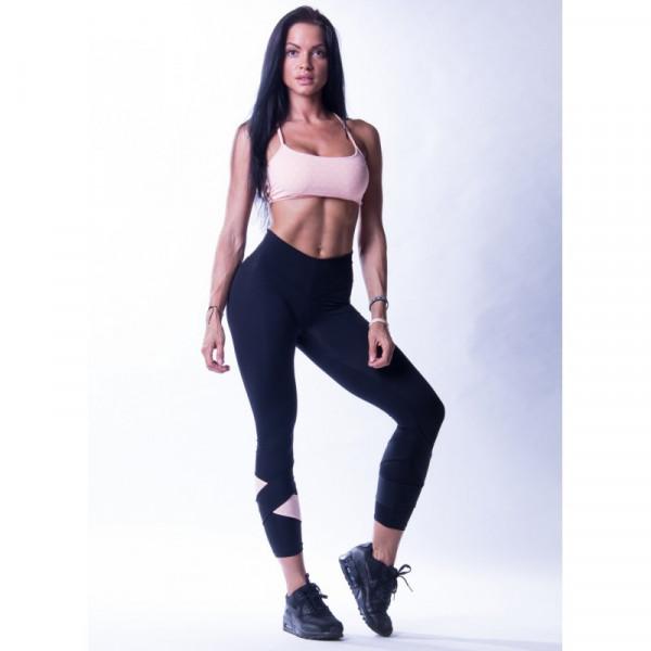 NEBBIA - Asymmetrische 7/8-Leggings MODELL N639 SCHWARZ