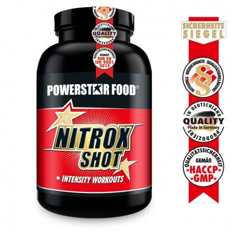 Powerstarfood NITROX SHOT - Pre Workout Pump Booster - 200 Kapseln
