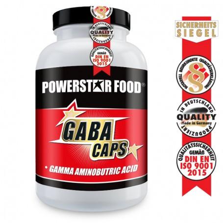 Powerstarfood GABA CAPS - GABA hochdosiert - 120 Kapseln