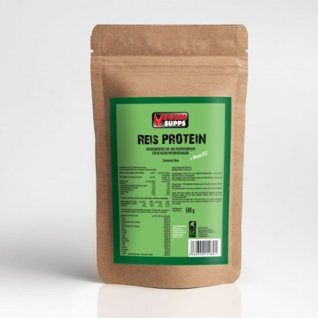 Powerstarfood RICE PURE PROTEIN - Reisprotein - 500 g Pulver