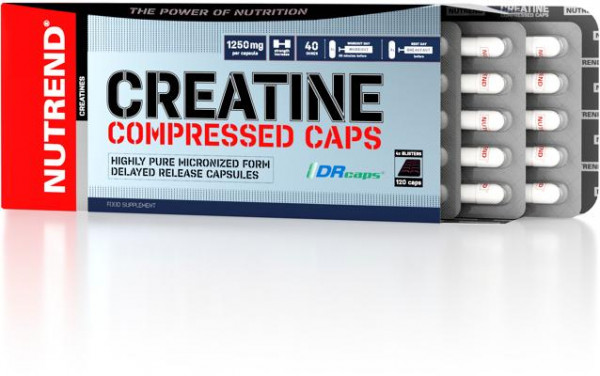 Nutrend - CREATINE Compressed Caps, 120 Kaps.