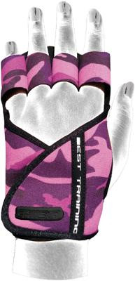 Chiba Lady Motivation Glove, Pink/Tarnfarben/Schwarz