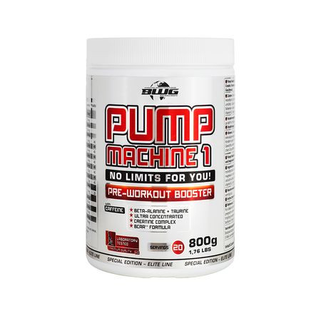 BWG Pump Machine 1 Pre Workout Booster (+ Koffein) (800g)