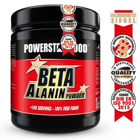 Powerstarfood BETA ALANIN POWDER - Beta Alanin Pulver - 500g