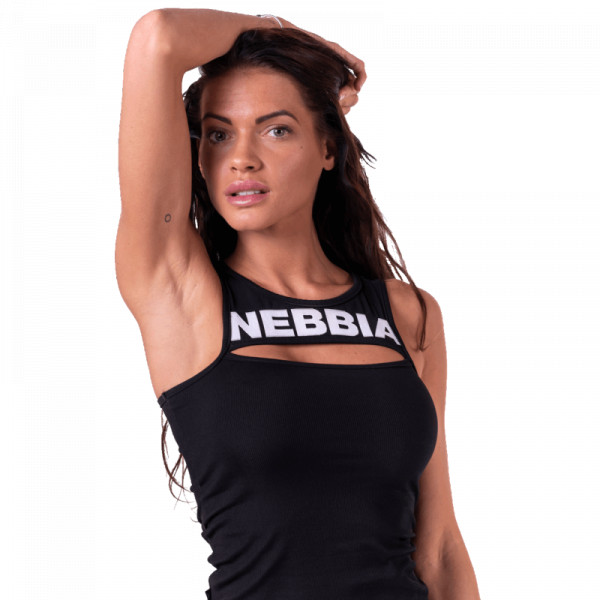 NEBBIA -TOP mit Band MODEL N678 BLACK