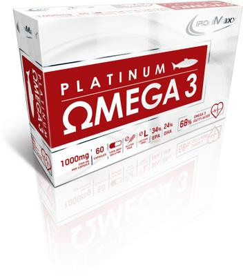 IronMaxx Platinum Omega 3, 60 Kapseln Packung