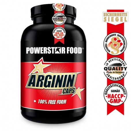 Powerstarfood ARGININ CAPS - L-Arginine Base - 200 Kapseln
