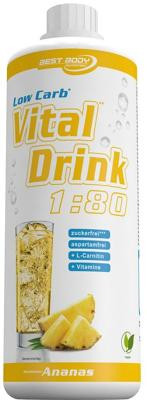 Best Body Nutrition Low Carb Vital Drink, 1000 ml Flasche