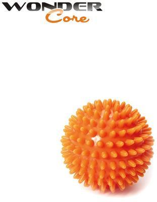 Wonder Core Spiky Massage Ball, 6 cm Umfang (Farbe: Orange)
