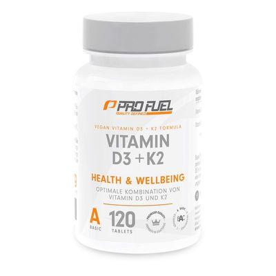 ProFuel - VITAMIN D3 & K2, 100% Vegan, 120 Tabl.