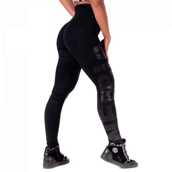 NEBBIA - Leggings mit hoher Taille MODEL N677 BLACK
