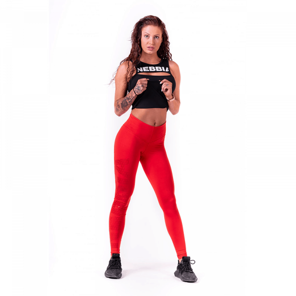 NEBBIA - Leggings mit hoher Taille MODEL N677 RED