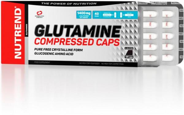 Nutrend - GLUTAMINE Compressed Caps, 120 Kaps.
