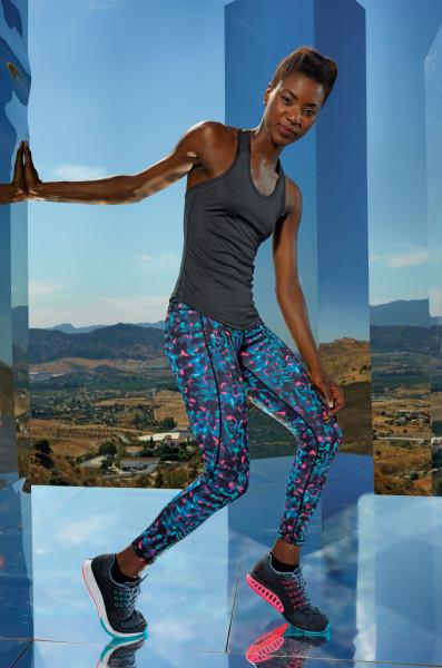 Women's TriDri® performance neon marine leggings full-length