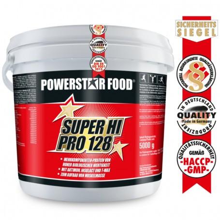 Powerstarfood SUPER HI PRO 128 - Mehrkomponenten Protein - 5000g