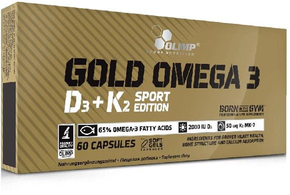 Olimp Gold Omega 3 D3 + K2 Sports Edition, 60 Kapseln