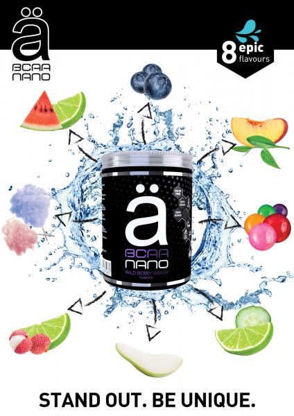 """NANOSUPPS - NextLevel Nutrition - """"ä"""" - BCAA Nano 420g"""