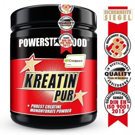 Powerstarfood KREATIN PUR - Creatin Monohydrat Pulver - 500 g
