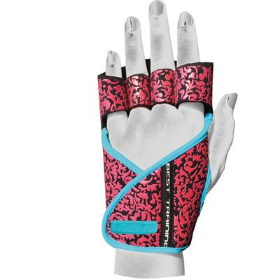 Chiba Lady Motivation Glove, schwarz/pink/türkis