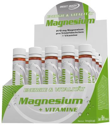 Best Body Nutrition Magnesium Vitamin Liquid, 20 x 25 ml Ampullen