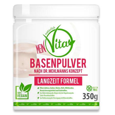 MeinVita Basenpulver, Dr. Mehlmann Konzept - Langzeit Formel, 350 g Pulver