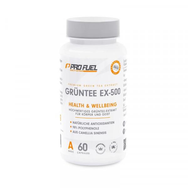 ProFuel Grüntee EX-500 - 60 Kapsel -100% Vegan