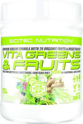 Scitec Nutrition Vita Greens & Fruits mit Stevia, 360 g Dose, Apfel