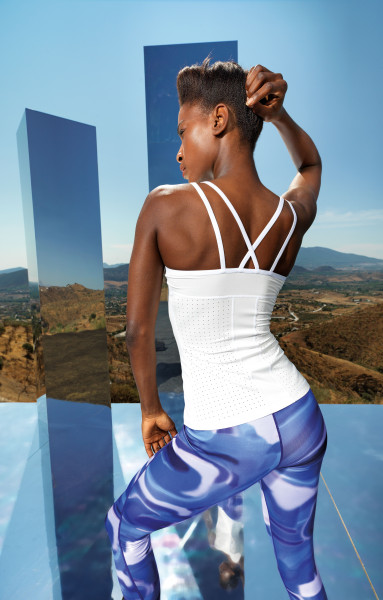 Women's TriDri® 'laser cut' spaghetti strap vest
