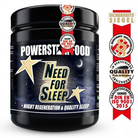 Powerstarfood NEED FOR SLEEP - Schnelle Einschlafhilfe & Regeneration - 450 g Pulver