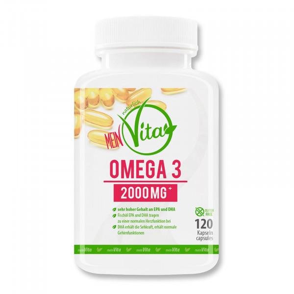 MeinVita Omega 3 Lachsöl 2000 mg - 120 Kapseln