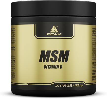 Peak - MSM mit Vitamin C, 120 Kaps.