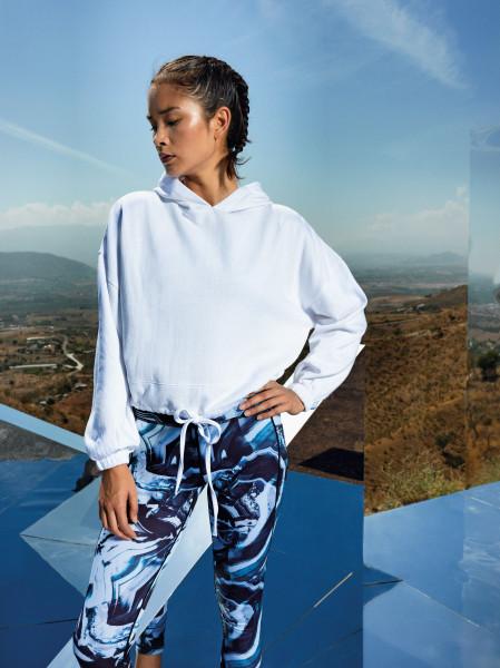Women's TriDri® cropped oversize hoodie